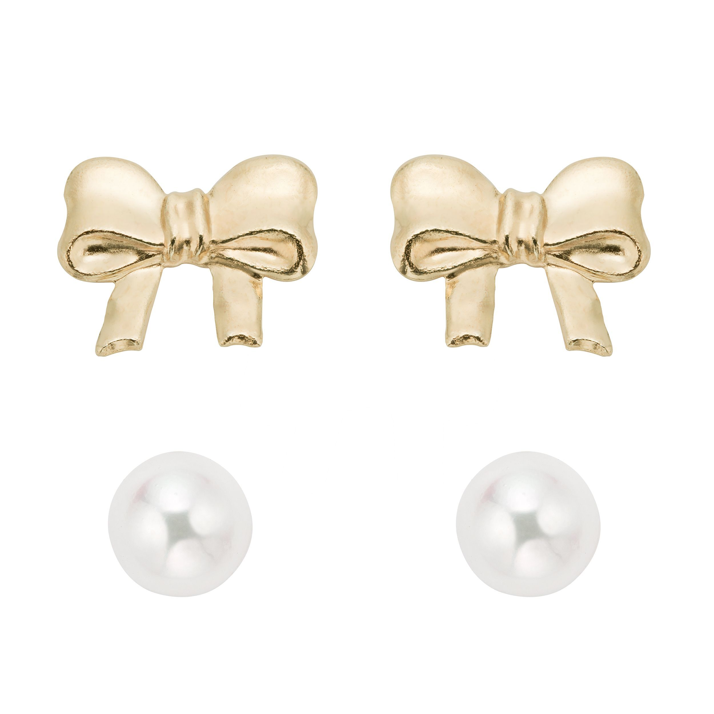 earrings fresh silicone gold water simulated with real products back pearl yellow stud