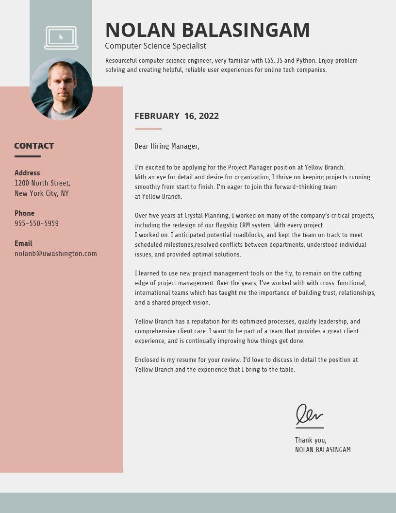 20 Consigli E Modelli Per Lettere Di Presentazione Personalizzate Venngage Blog Resume Cover Letter Lettera Di Presentazione Carattere
