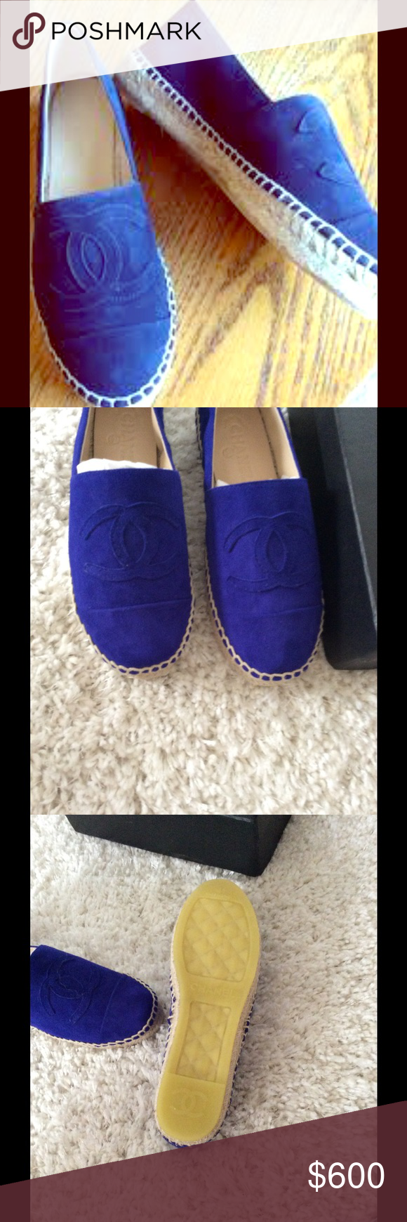 Chanel suede espadrilles Great condition with box Shoes Espadrilles