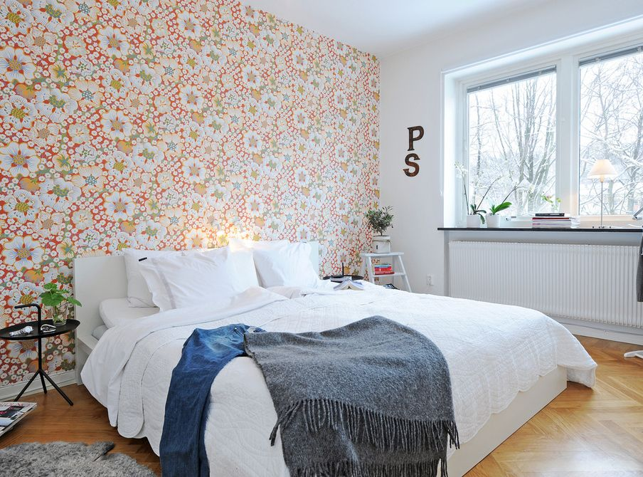 Superb Love The Wallpaper In This Swedish Bedroom. Idea