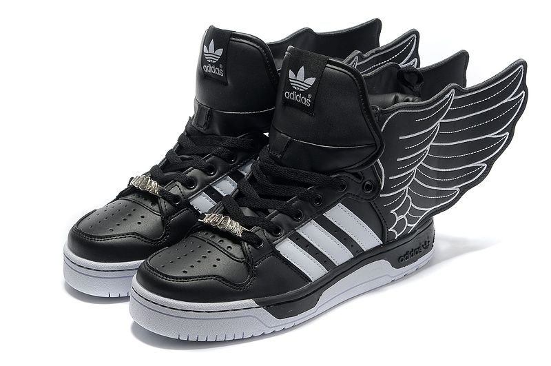 46abc11c07b59a Got them! Adidas Jeremy Scott Wings 2.0 - Black White
