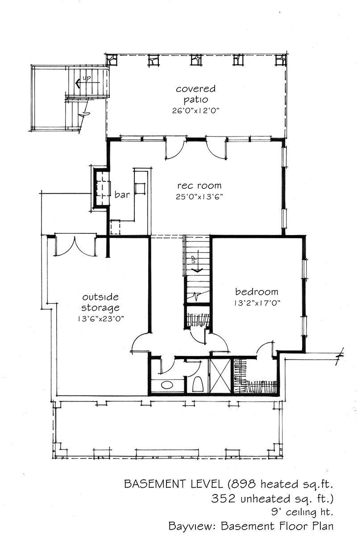 Bayview Cottage floor plans, Cottage plan, Open concept