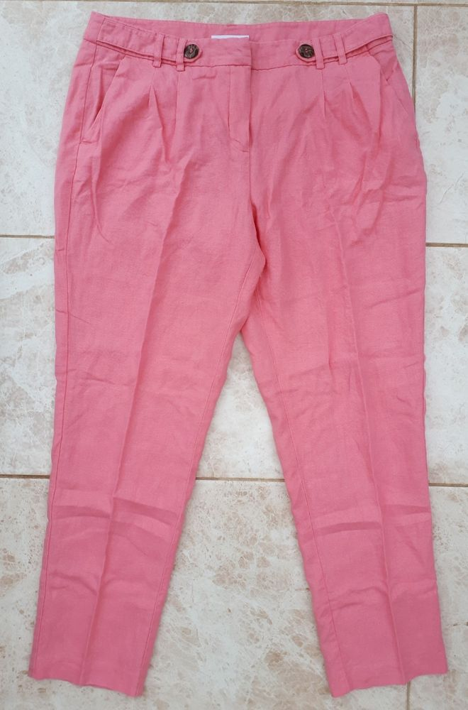 Bm Cropped Purple Capri Trousers Sz S Small Summer Holiday New