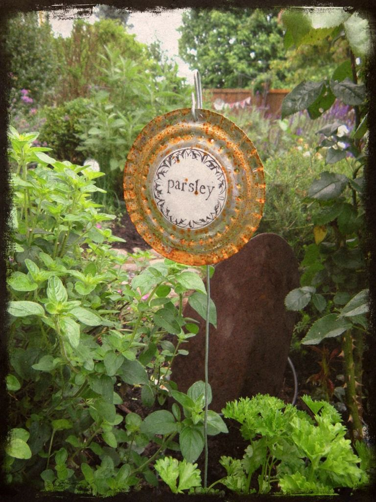 Useful, recyclable garden art.
