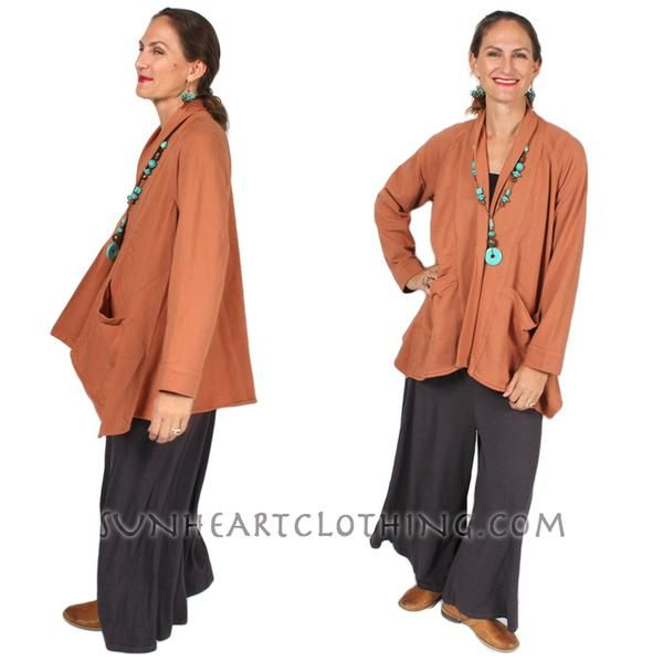 Kleen one-Button Jacket Coat Cotton Boho Hippie Chic Sml-2x