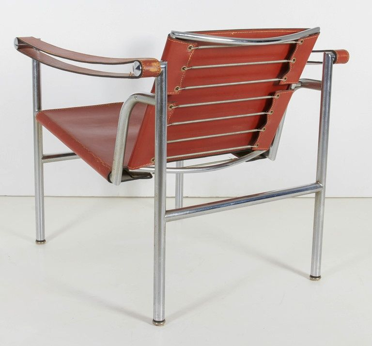 Pair of Signed and Numbered Le Corbusier LC/1 Chairs