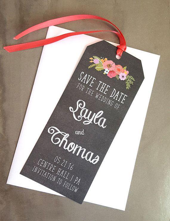 bookmark save the date wedding stationery by raspberrycreative