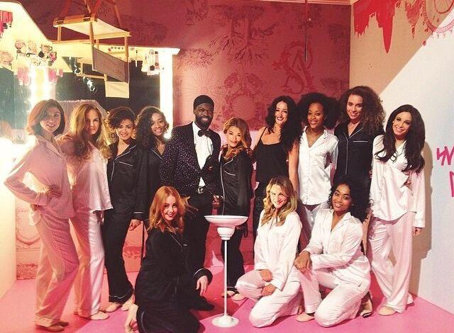 Danielle Peazer and fellow dancers backstage at the Victoria's Secret Fashion Show