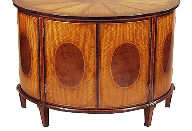 English Adam Demilune Cabinet reproduction by Agostino
