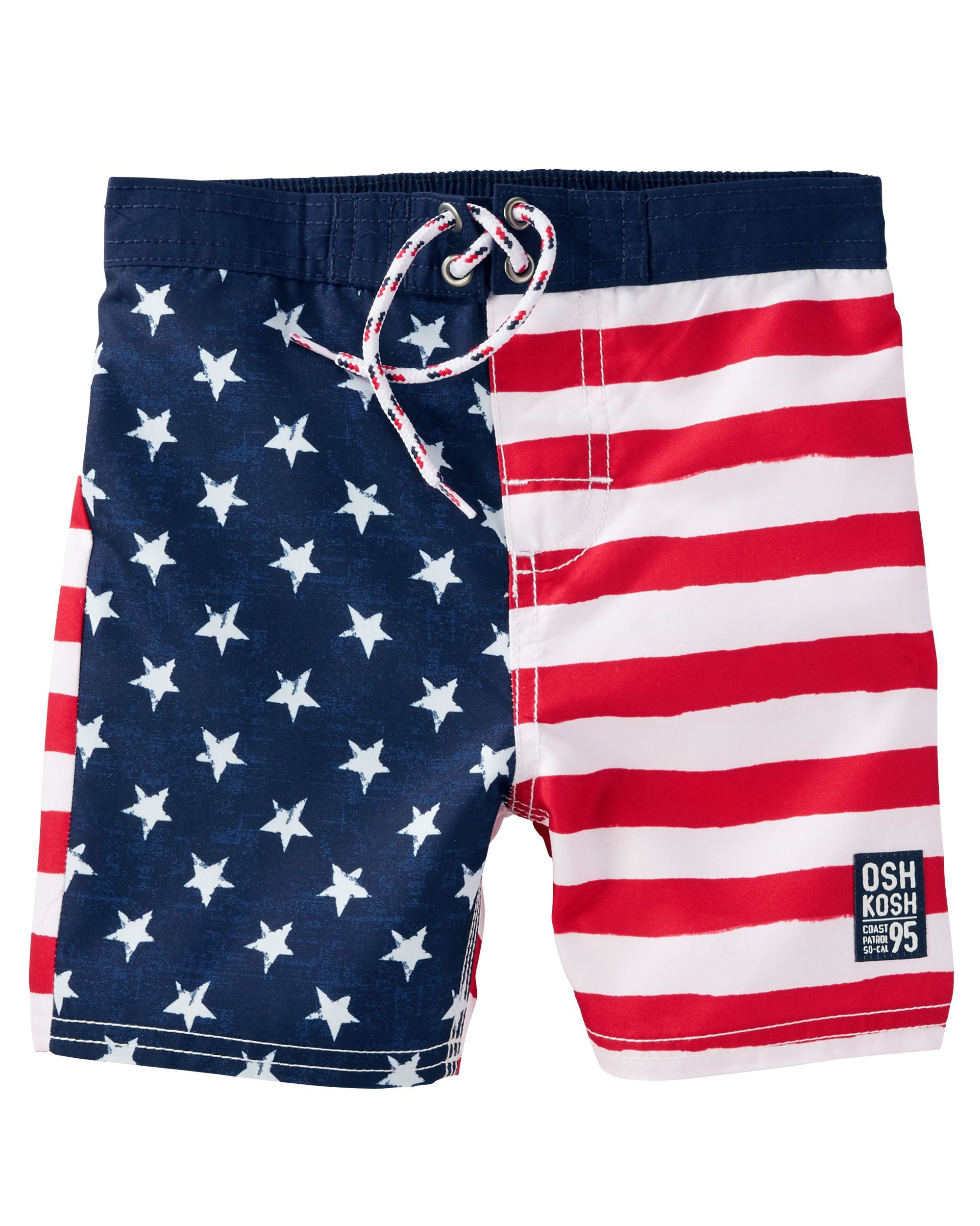 a7c348e642 Toddler Boy OshKosh Flag Print Swim Trunks | OshKosh.com