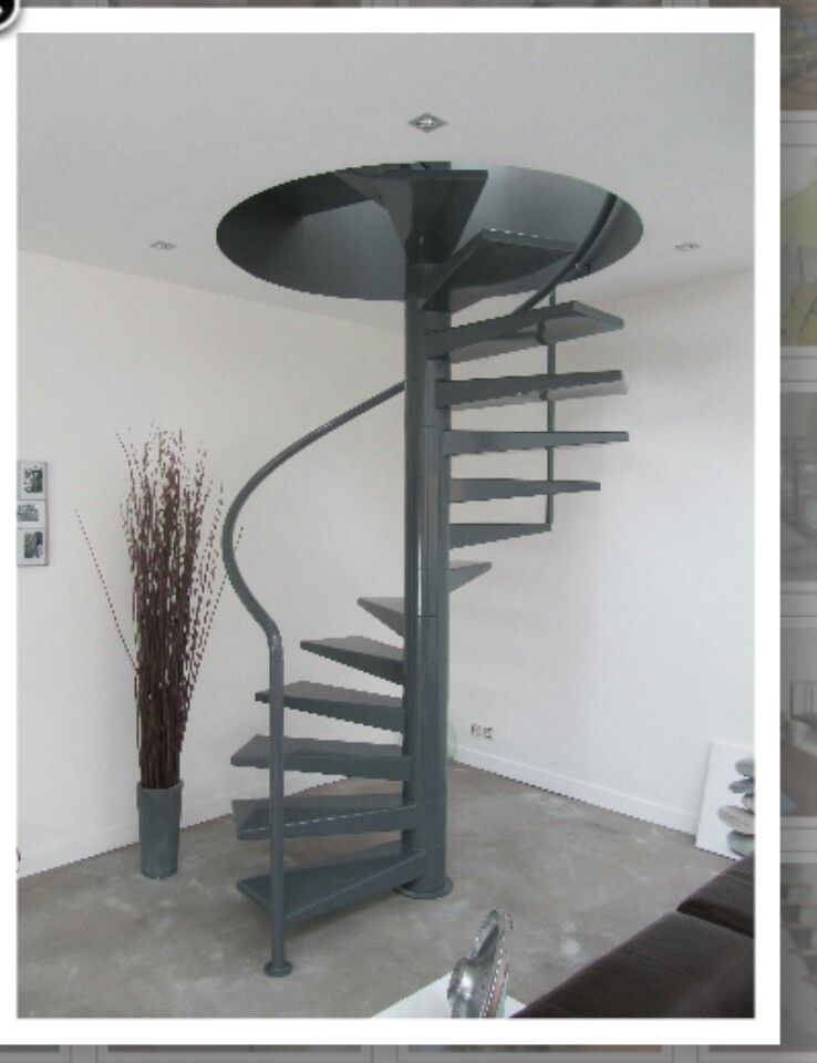 Escalier helicoidal 15 marches | Escalier hélicoïdal ...