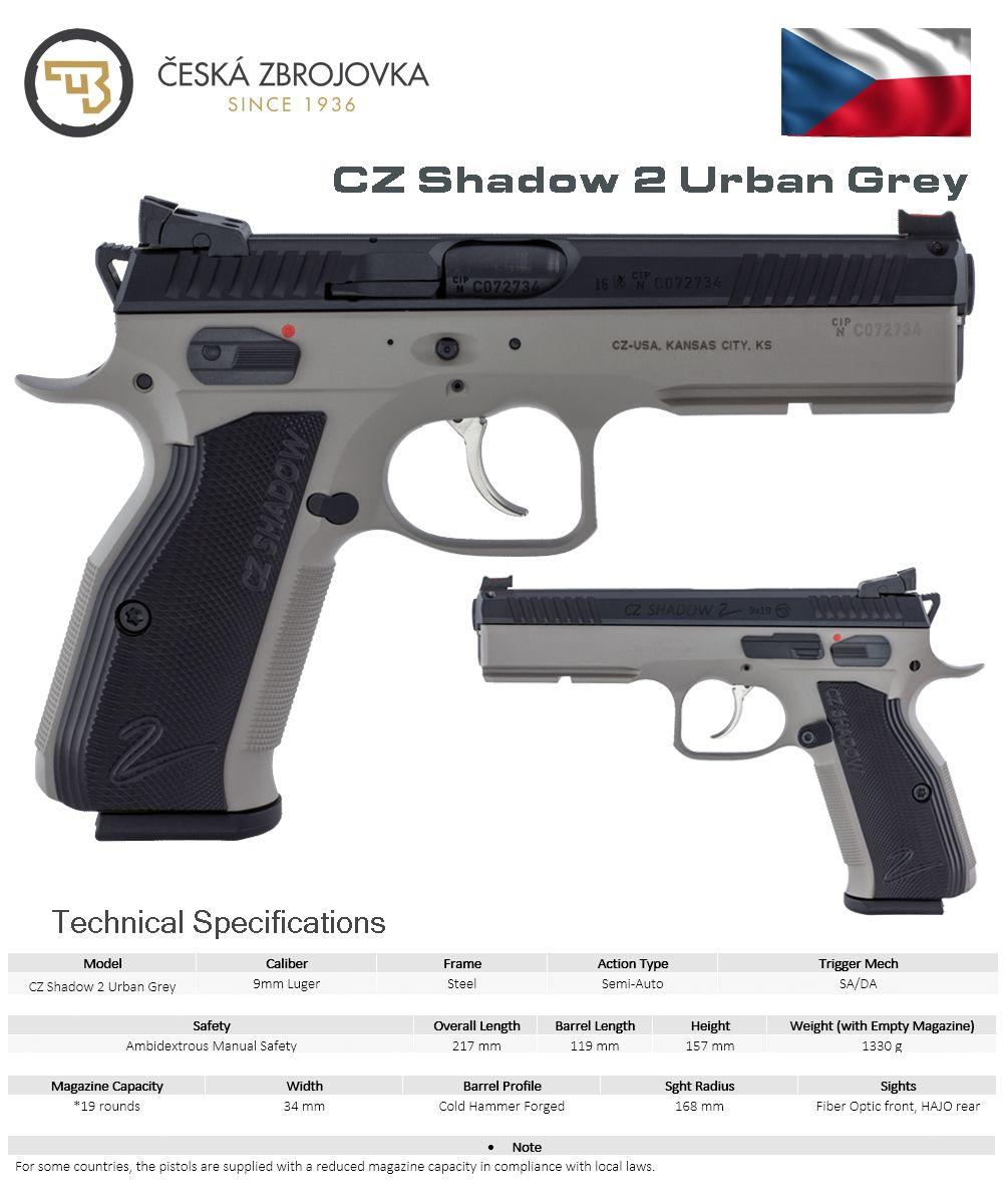 Česká Zbrojovka CZ Shadow 2 Urban Grey GUNNZZZ Hand