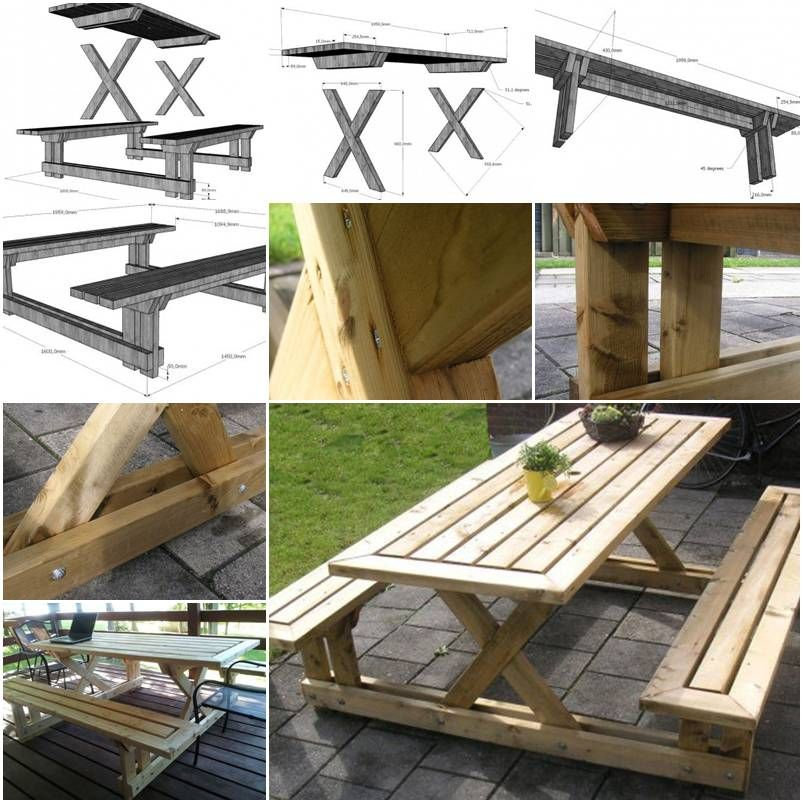How To Make Garden Bench And Table Step By Step Diy Tutorial Instructions How To How To Make