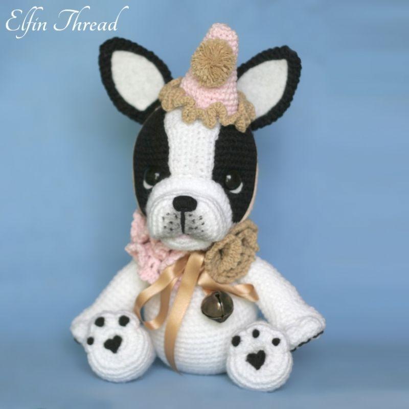 Gaspard the french bulldog amigurumi pattern by Elfin Thread | Shops ...