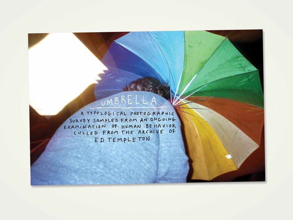 "<strong>Ed Templeton -<em> Umbrella</em></strong> 44 pg. full color photo zine.<em>Color Laser Print5.5"" x 8.5"" </em>Edition of 400Deadbeat Club"