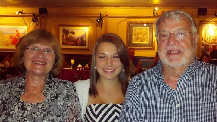Becca with her grandparents (my in-laws) before CLO.