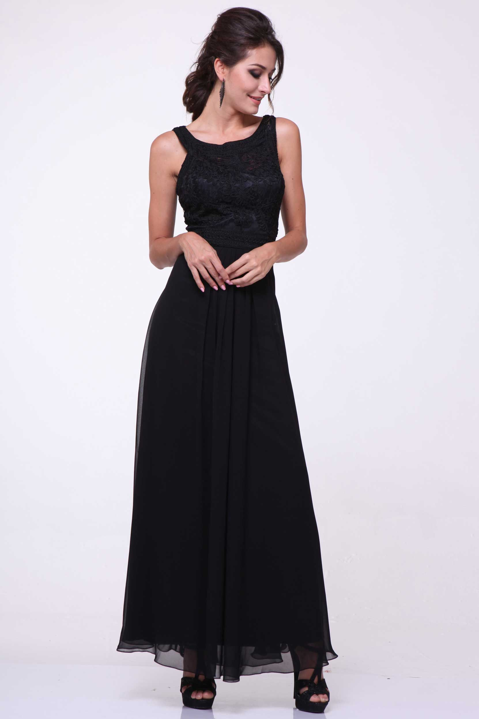 Evening Long Dress with Sheer Back CD1938 Full Length, A-Line Prom Evening Dress, Jewel Neckline, Sleeveless, Fully Embroidery Appliqued Top, Illusion Cut-out Back with Floral Applique, Solid Color Layered Skirt. https://www.smcfashion.com/wholesale-evening-dresses/evening-dress-cd1938