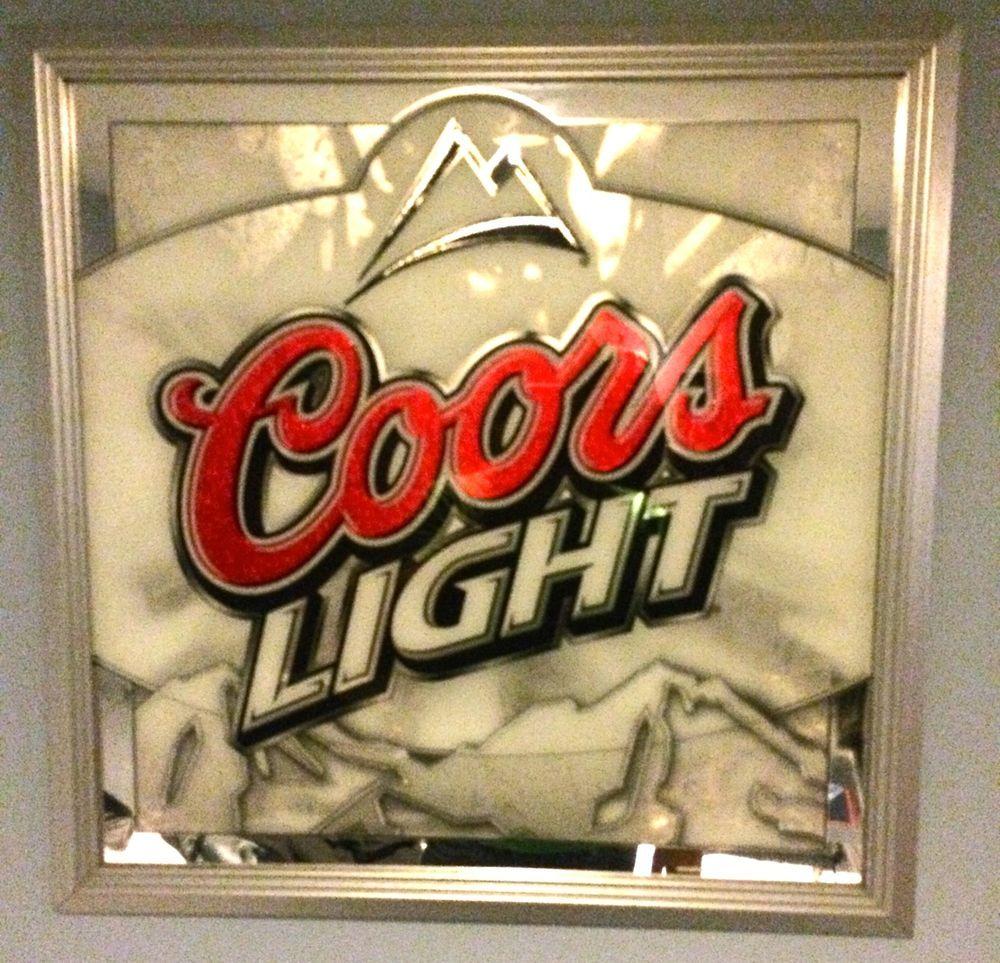 Coors light beer mirror sign pub bar man cave 24 x 24 mountains coors light beer mirror sign pub bar man cave 24 x 24 mountains aloadofball Image collections