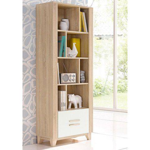 meuble bibliotheque style scandinave etagere 1 porte vue 2