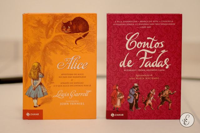 Alice (Lewis Carroll) e Contos de Fadas (Perrault, Grimm e Andesen) no Box Clássicos de Luxo, da Zahar Estante de Luxo www.estantedeluxo.com.br