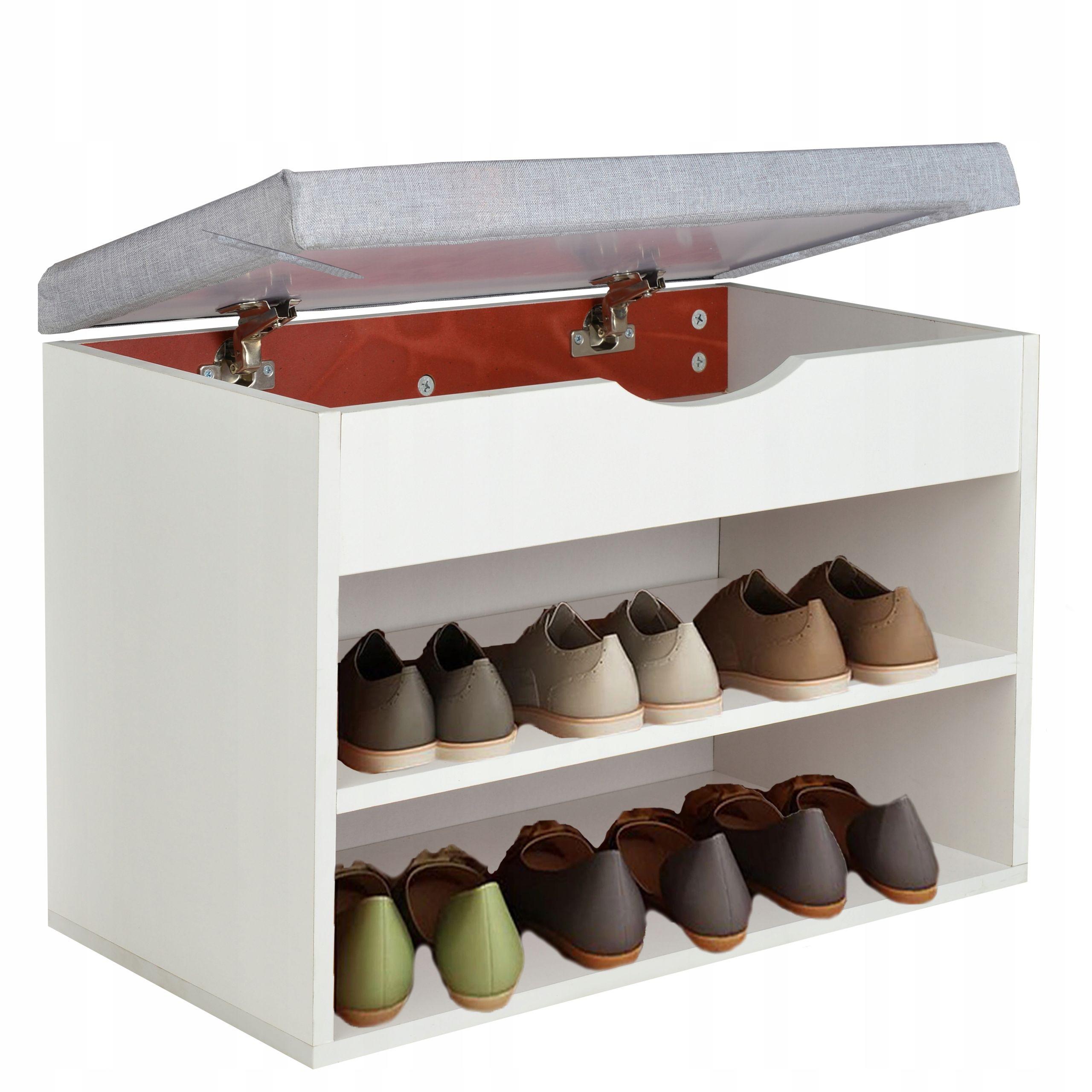 Kup Teraz Na Allegro Pl Za 99 00 Zl Szafka Na Buty Z Siedziskiem I Schowek 60cm Biala 7917576430 Allegro Pl Radosc Zakupow I Shoe Rack Woodworking Home