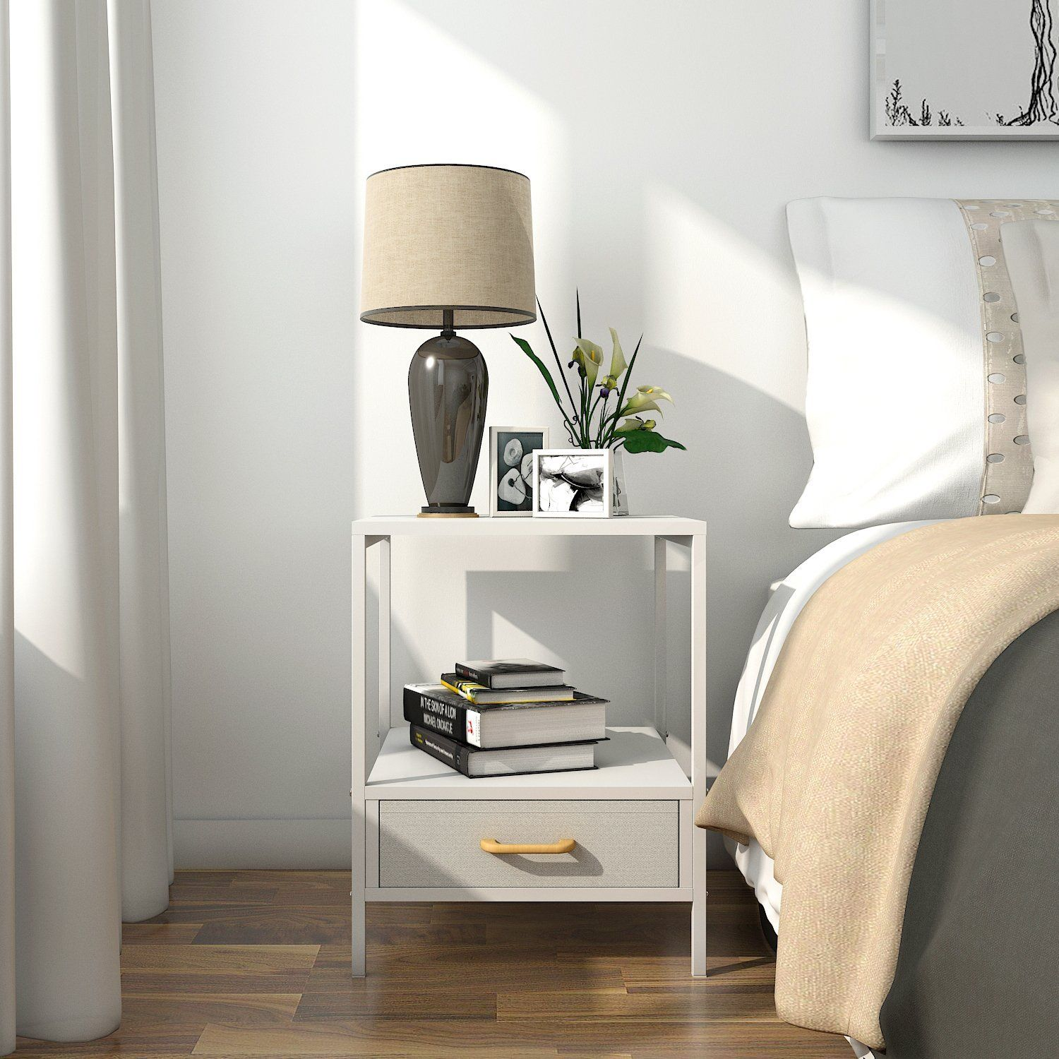 Amazonsmile lifewit 2tier side table end table
