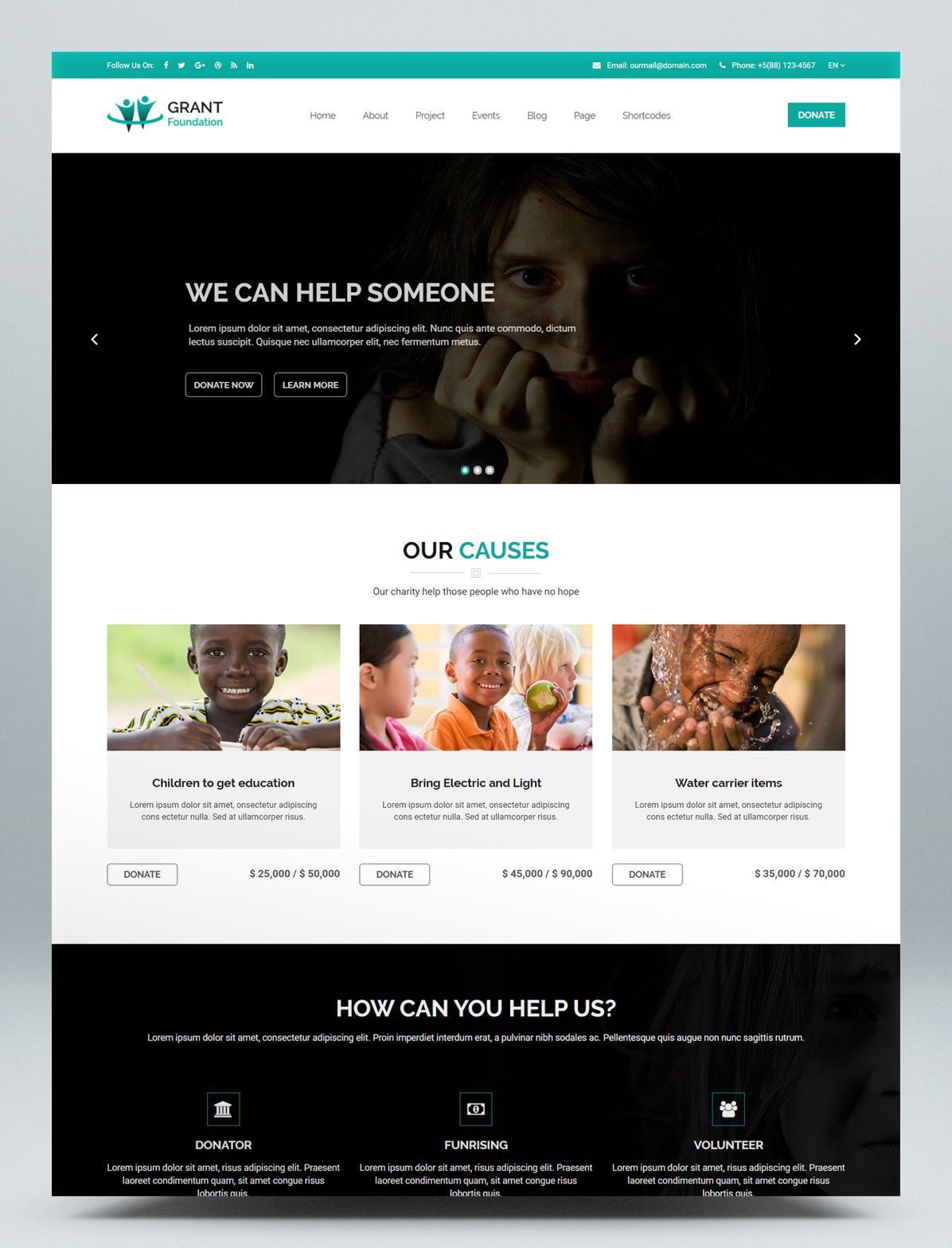 Nonprofit Charity Html Website Template Website Template Html Website Templates Website Home Page