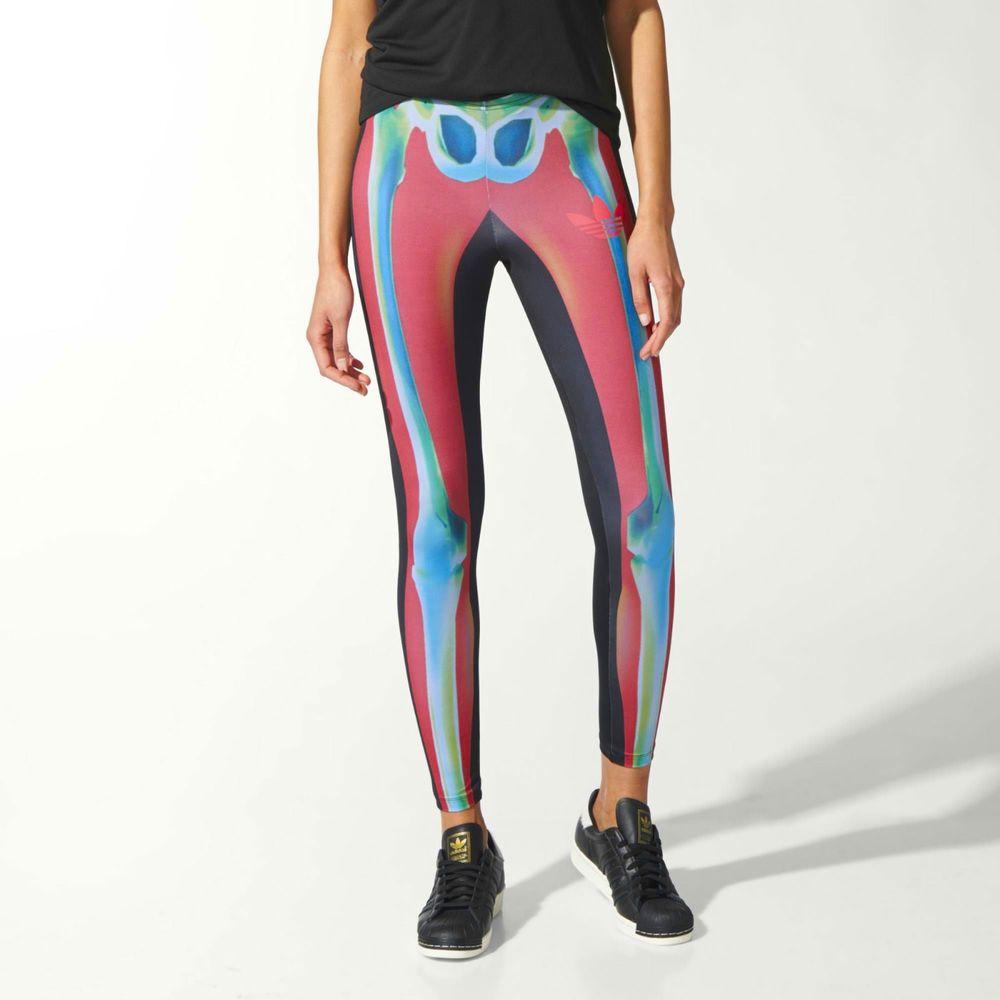 42eab83cc8bcc2 Adidas Originals Rita Ora O-Ray Skeleton X-Ray Black Gym Leggings New S M