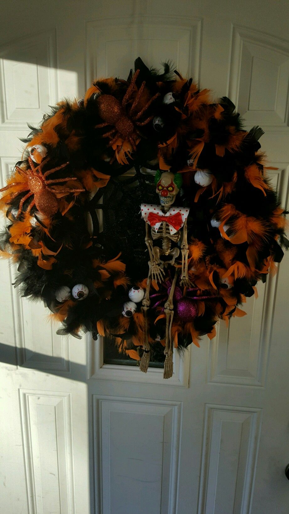 clown wreath. Made this for my son last year.