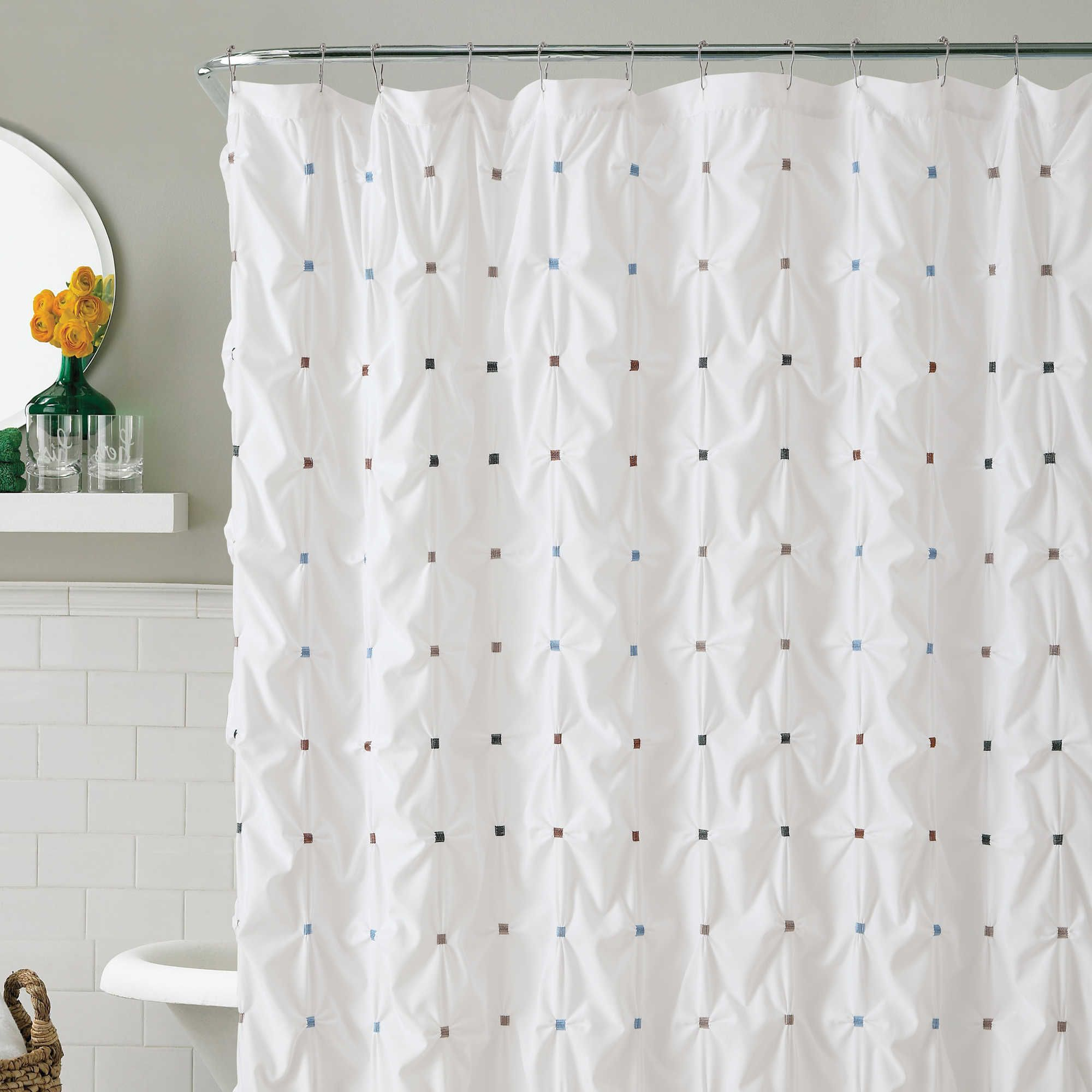 Victoria Classics Reva 72 Inch X 84 Inch Shower Curtain Pretty