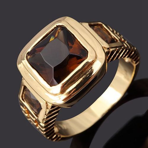 Usa Seller 10k Yellow Gold Filled W Deep Amber Golden Bronze Women S Or Mans Jewelry Ring Size 8 Retai Engagement Ring Gift Men S Jewelry Rings Rings For Men