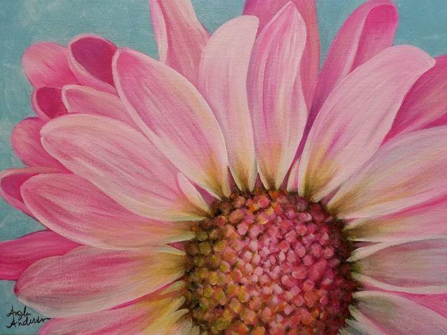 Pink Daisy Acrylic Painting Tutorial by Angela Anderson on YouTube   fredrixcanvas  princetonbrushes  art 12152b5e6