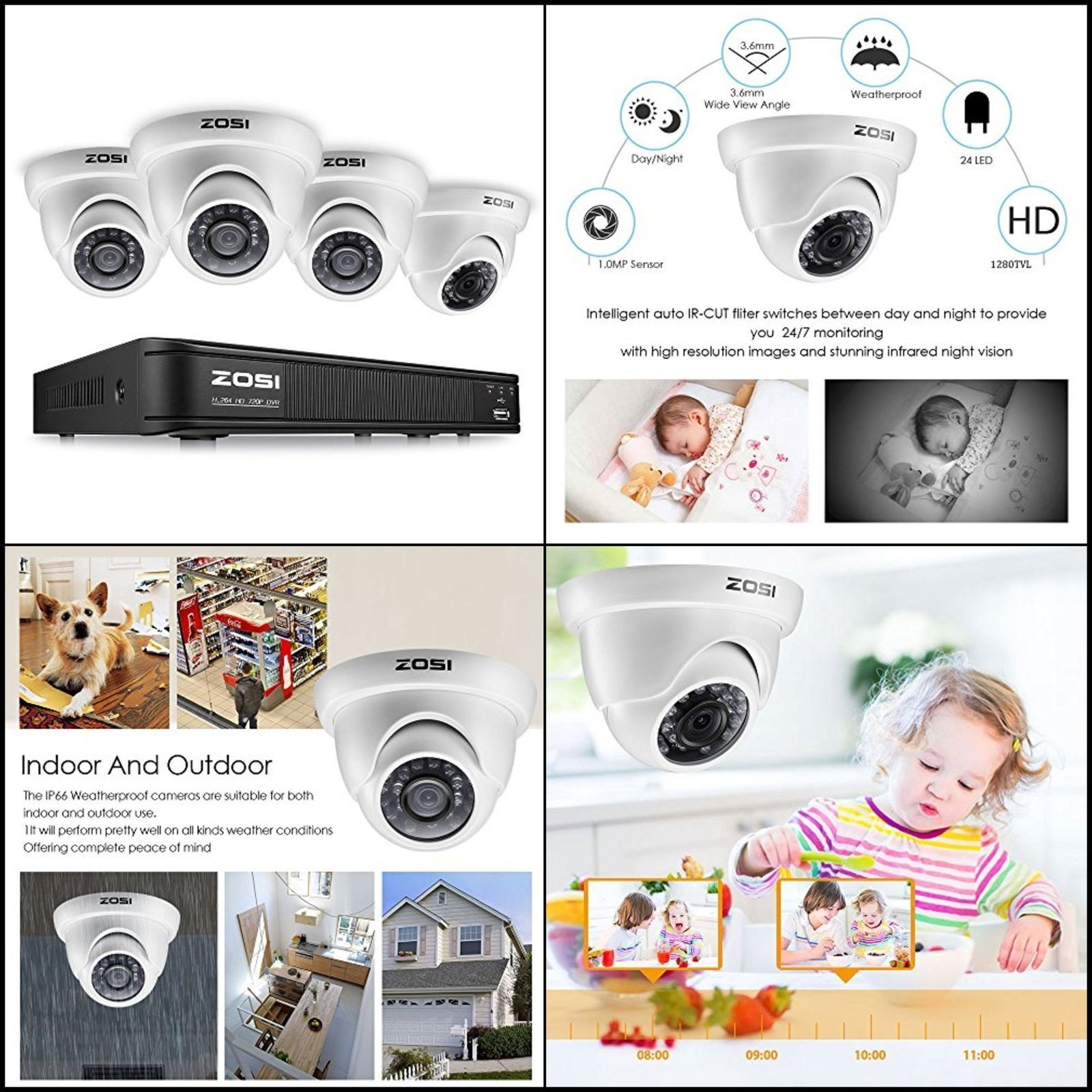 Video Camera Home Security System 1080P Outdoor Wireless