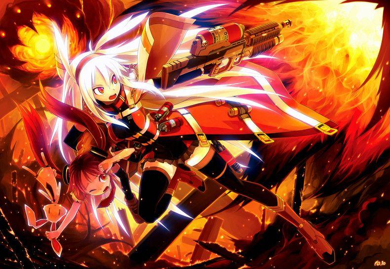 Anime fire girl anime anime anime backgrounds - Anime girls with fire ...