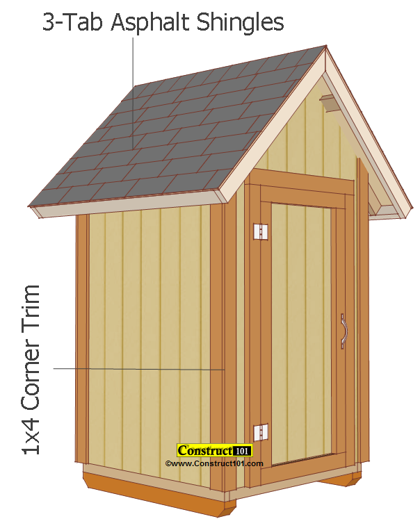 Small Garden Shed Plans 4'x4' Gable Shed | Small shed ...