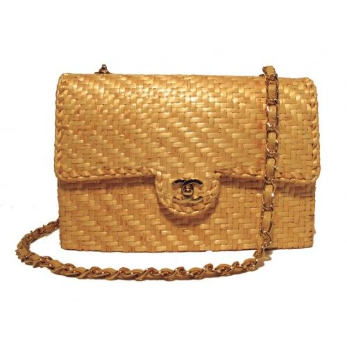 Chanel Rattan Woven Basket Classic Flap Bag  7f6bfb2336f9a