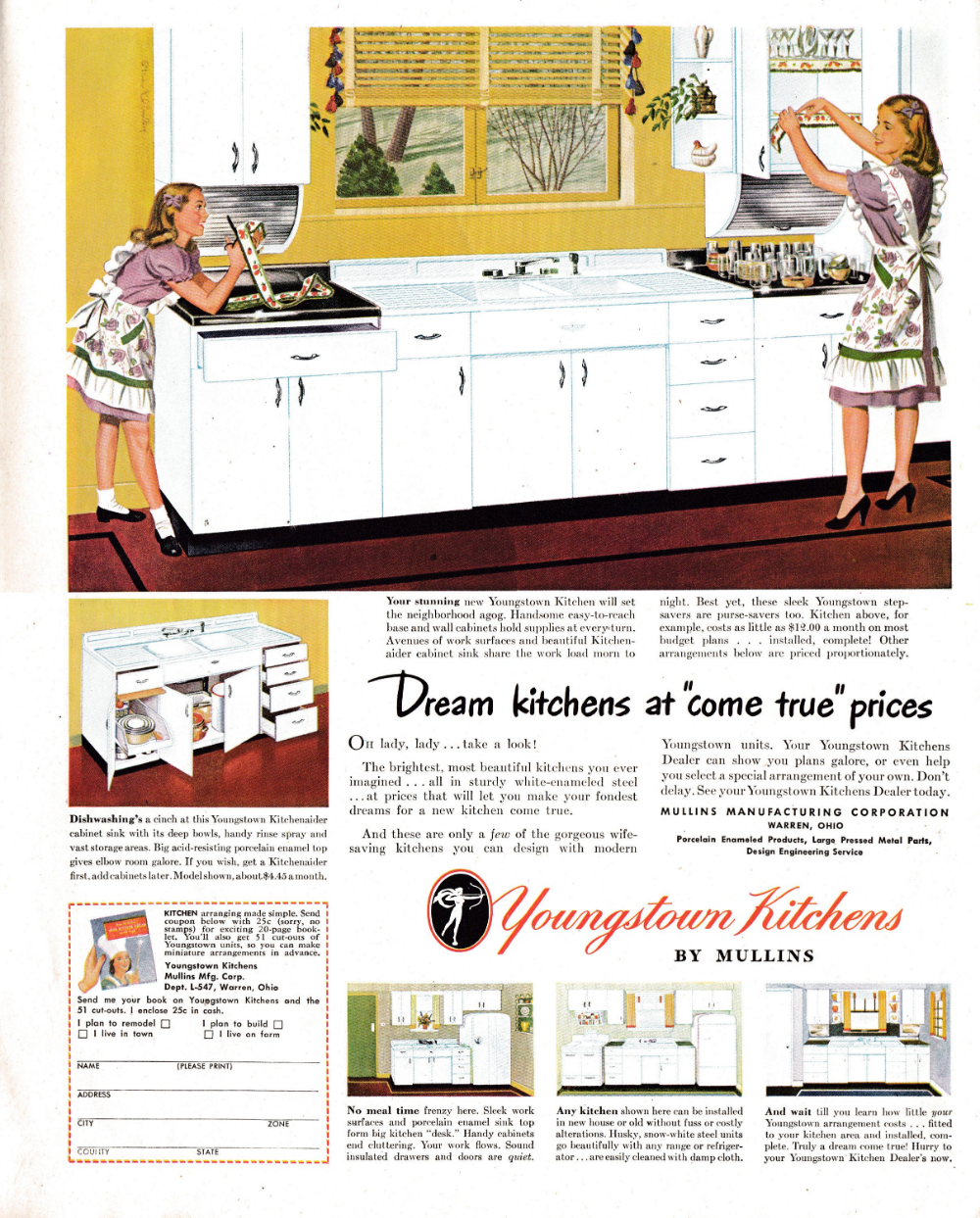 1947 Youngstown Dream Kitchen At Come True Price Original 13 5 Etsy In 2020 Dream Kitchen Retro Kitchen Decor Old Sink
