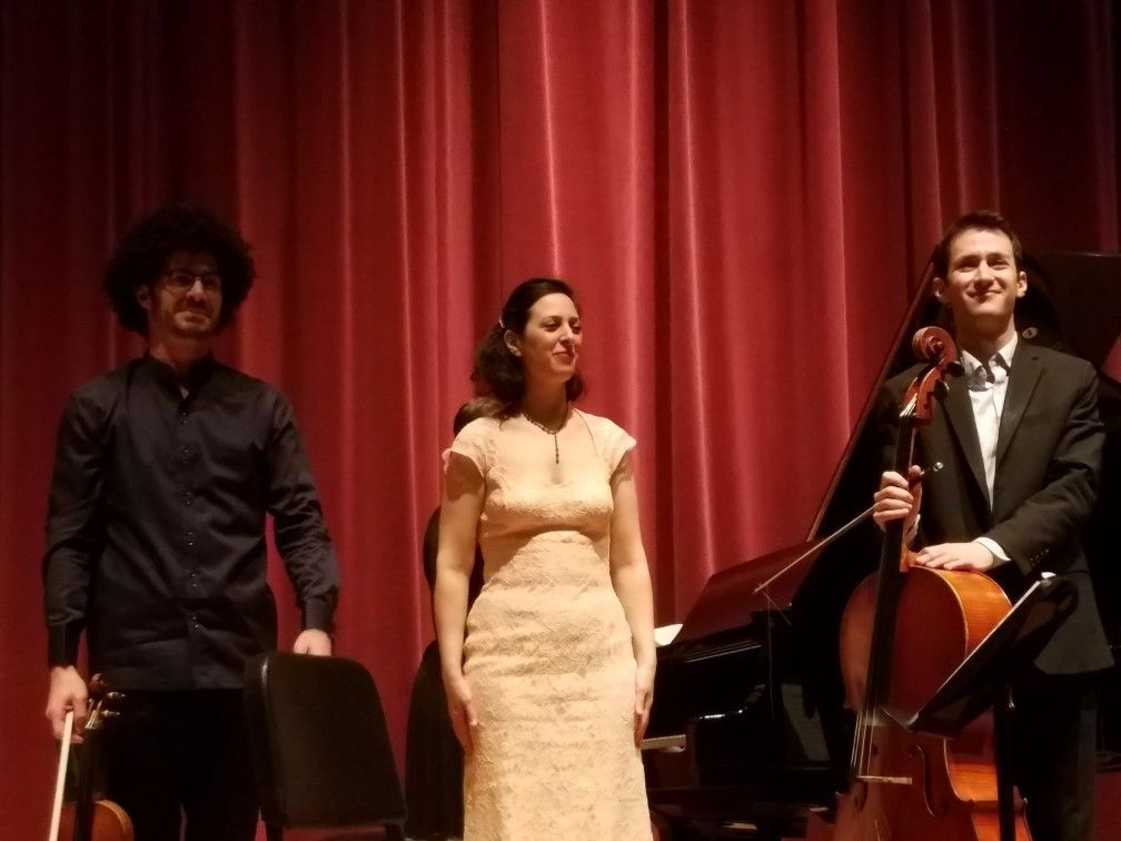 The Lysander Piano Trio performed in Des Moines, Iowa on