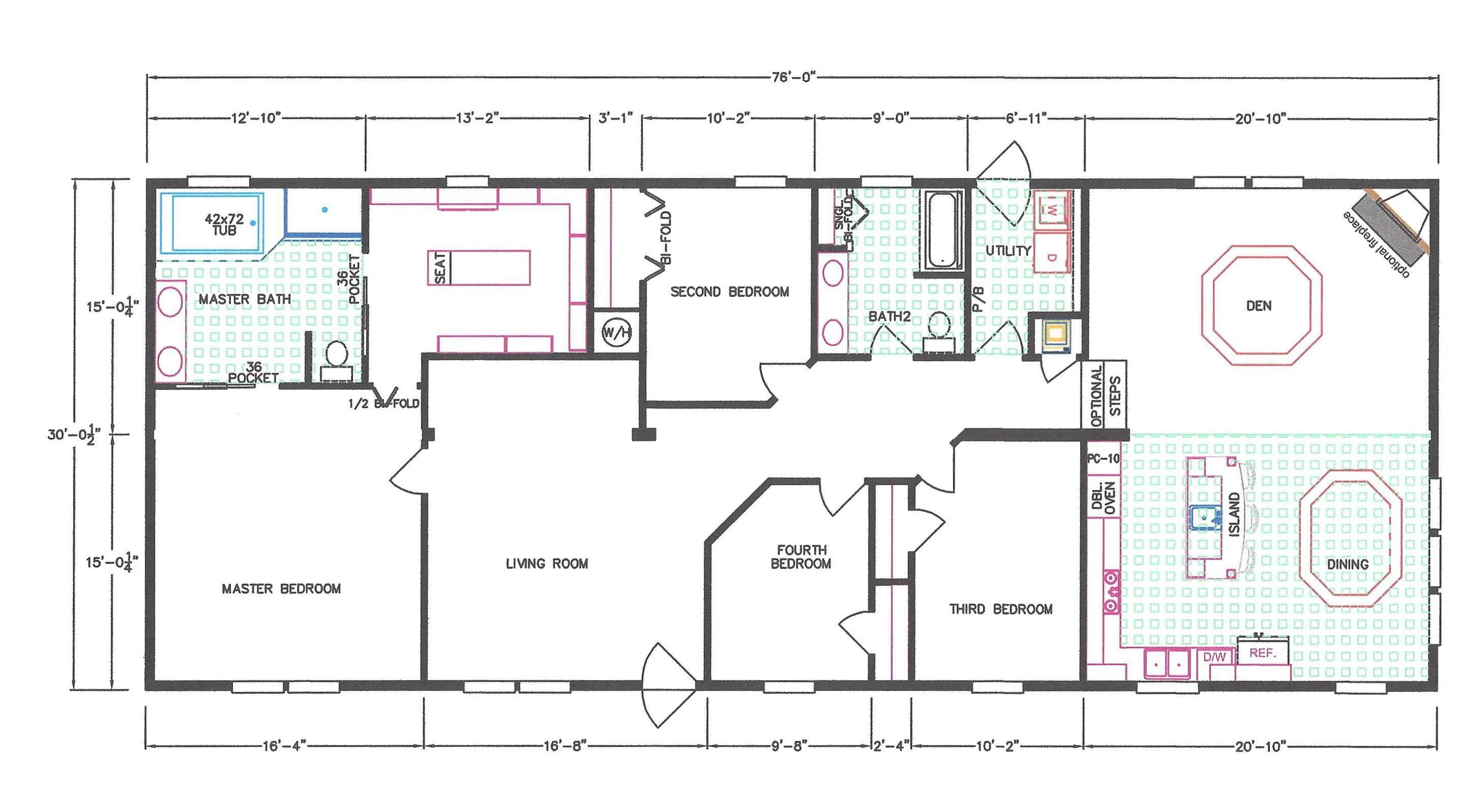 4 Bedroom Floor Plan F 663