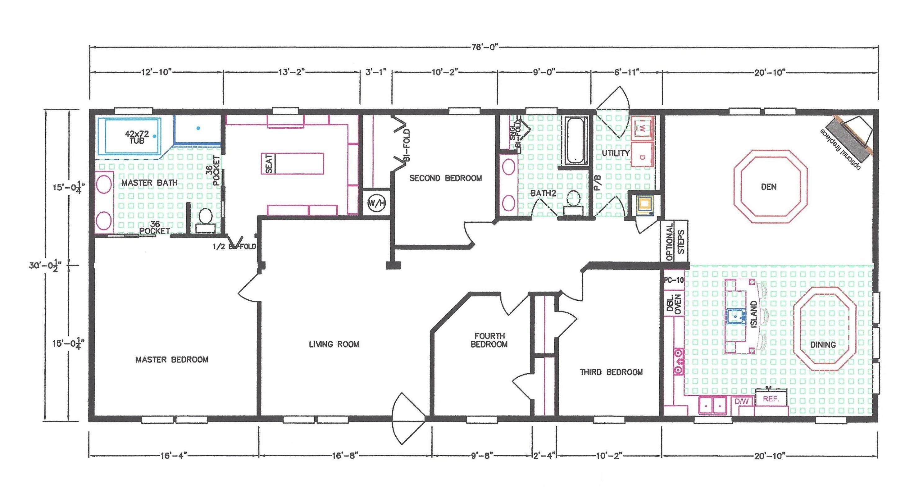 4 Bedroom Floor Plan F 663