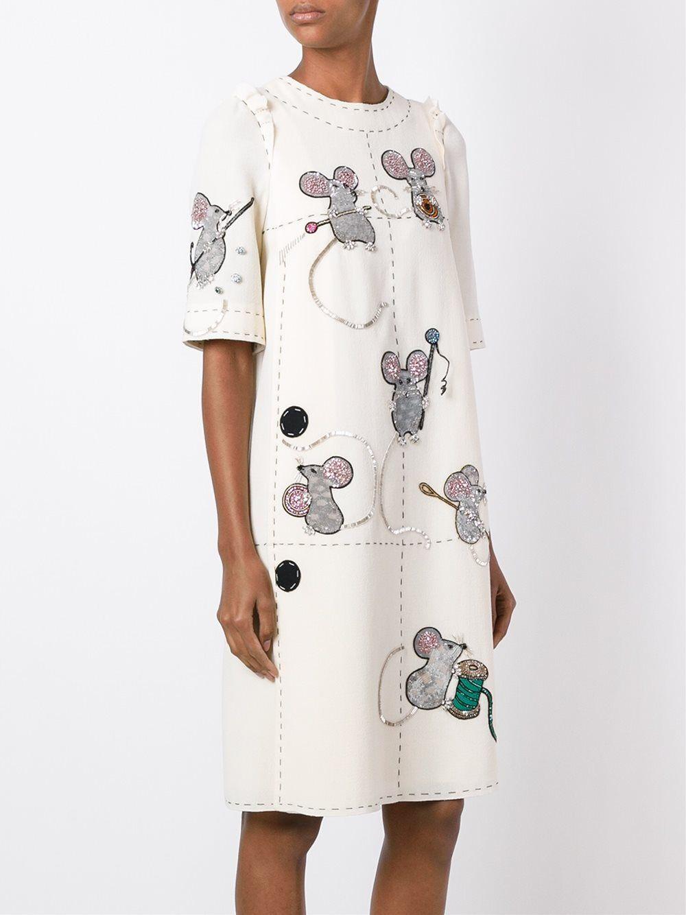 a96ffc191c81d19 Dolce & Gabbana платье с вышивкой мышей   ДОЛЬЧЕ in 2019   Платья ...