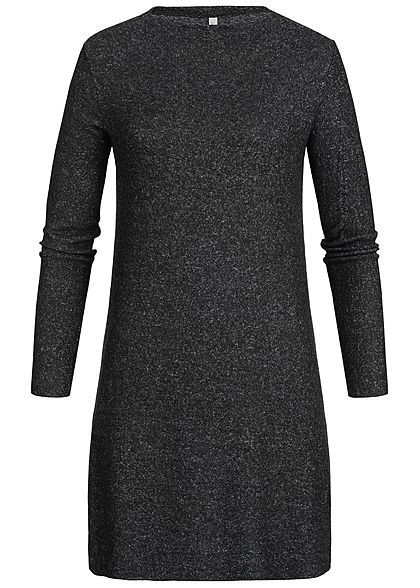 Hailys Damen Langarm Kleid schwarz melange - Art.-Nr ...