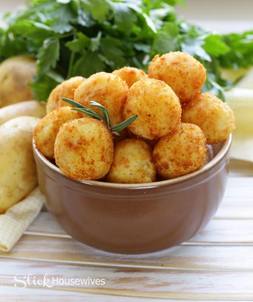 Cheesy Potato Balls Recipe Great Appetizer Recipe Recipes Foodie Recipes Cheesy Potato Balls Recipe