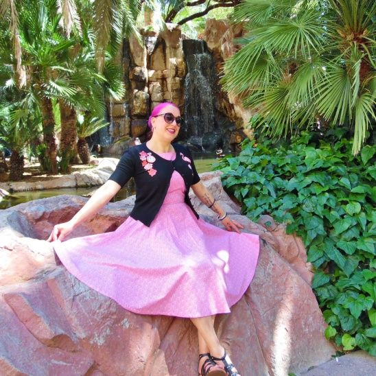 I made this dress using two patterns, the top was from a simplicity pattern and the skirt from a Vogue Vintage pattern. You can read about it here http://www.natashadevil.com/2016/04/pretty-in-pink.htmlThe Simplicity pattern appears to be no longer in print.