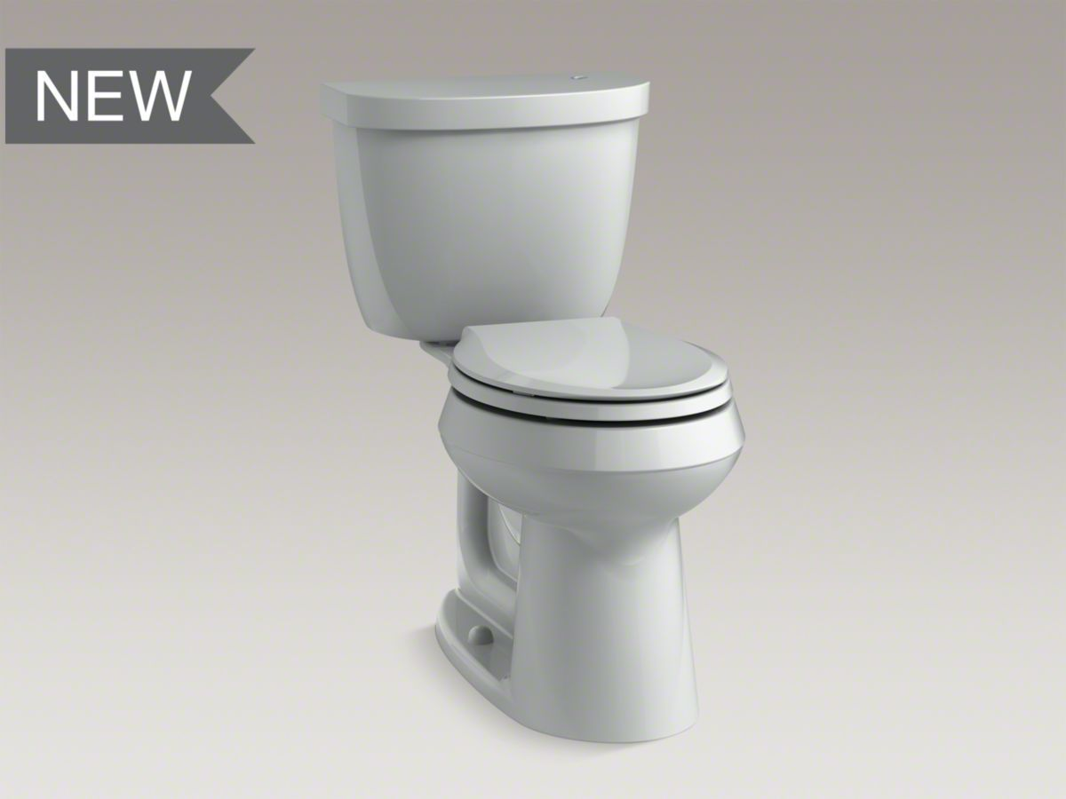 Kohler Cimarron Comfort Height Two Piece Toilet Finishes Available In White Biscuit Almond Dune Ice Grey Sandbar And B Toilet Two Piece Toilets Cimarron