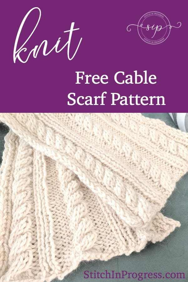 Free Knit Cable Scarf Pattern – Railroad Tracks