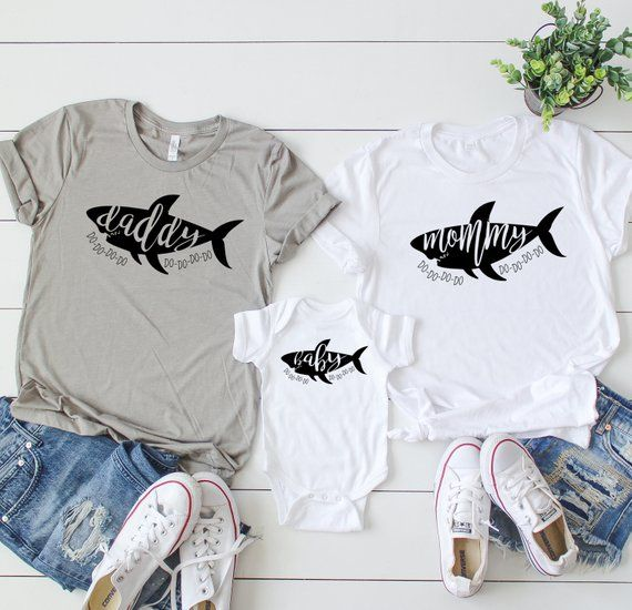 dc21177d Mommy Shark Shirt, Daddy Shark Shirt, Baby Shark Shirt, Matching Family  Shirts, Mommy and Me, Family