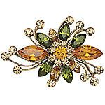 Goldplated Autumn Crystal Spray Pin