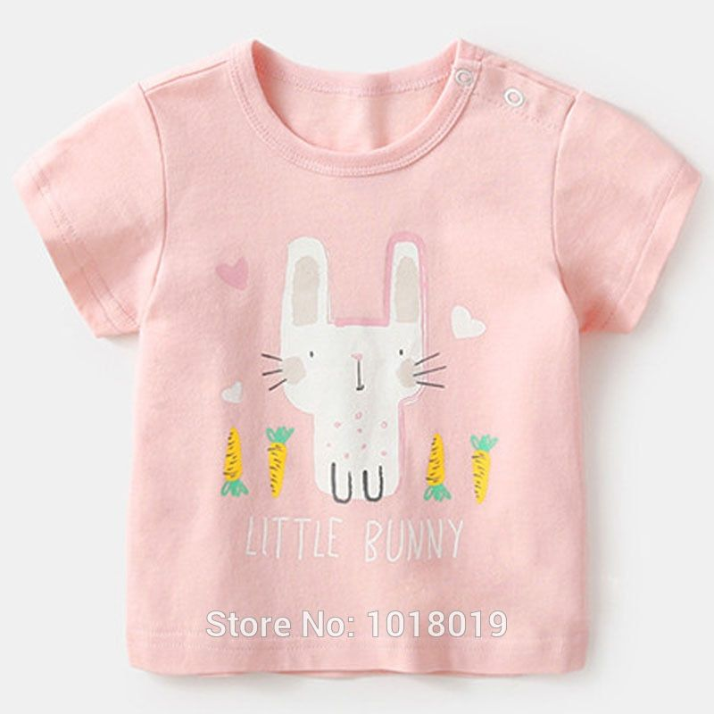 41ef940e27 New 2019 Summer Brand Quality 100% Cotton Baby Girls T-Shirt Short ...