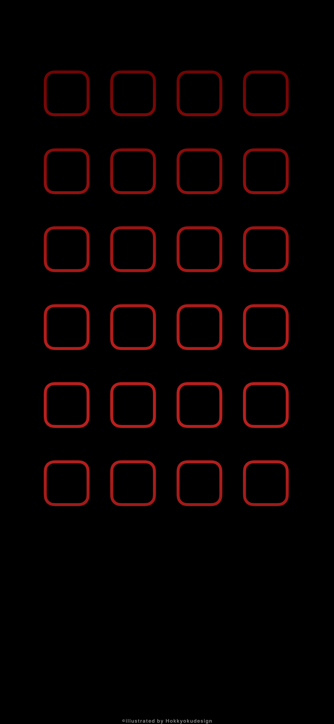 Iphonexの動く壁紙 有機el液晶用黒地に赤枠 Iphone X 壁紙 壁紙 赤 黒の壁紙
